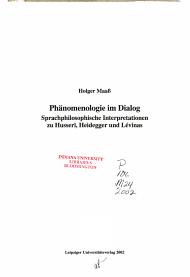 Ph  nomenologie im Dialog PDF