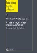 Contemporary Research in Sports Economics