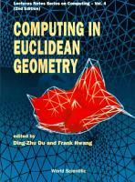 Computing in Euclidean Geometry PDF