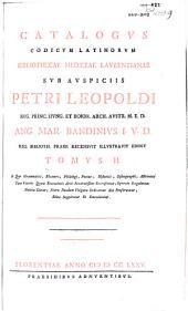 Catalogvs codicvm manvscriptorvm bibliothecae Mediceae Lavrentianae varia continens opera graecorvm patrvm: Volume 5