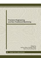 Precision Engineering and Non Traditional Machining PDF
