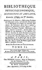 Bibliothèque physico-économique: instructive et amusante. 1788,2