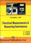 Electrical Measurements   Measuring Instruments PDF