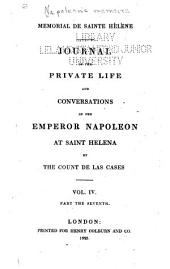 Mémorial de Sainte Hélène: Journal of the Private Life and Conversations of the Emperor Napoleon at Saint Helena, Volume 14
