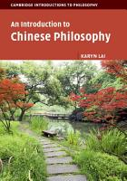 An Introduction to Chinese Philosophy PDF