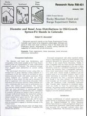 Diameter and Basal Area Distributions in Old-growth Spruce-fir Stands in Colorado