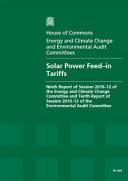 Solar power feed-in tariffs