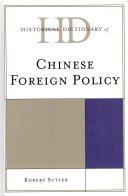 Historical Dictionary of Chinese Foreign Policy PDF