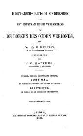 Historisch-critisch onderzoek naar het onstaan en de verzameling van de boeken des ouden verbonds: Volume 2