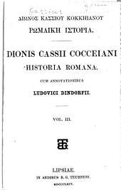 Diōnos Kassiou Kokkēianou Rōmaikē historia: Τόμοι 3-5