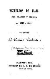 Recuerdos de viaje por Francia y Belgica en 1840 y 1841