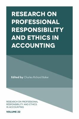 Research on Professional Responsibility and Ethics in Accounting PDF
