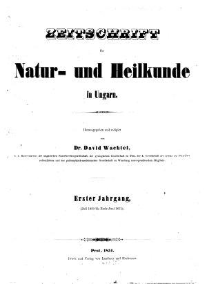 Zeitschrift f  r Natur  und Heilkunde in Ungarn PDF