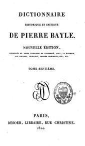 Dictionnaire historique et critique: Volume7