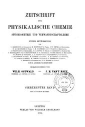 Zeitschrift für physikalische Chemie: Band 17