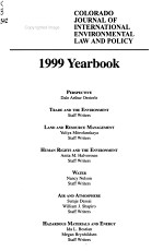 Colorado Journal of International Environmental Law and Policy PDF