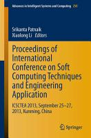 Proceedings of International Conference on Soft Computing Techniques and Engineering Application PDF