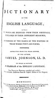 A dictionary of the English language  Abstracted from the folio ed  by the author PDF