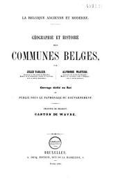 Géographie et histoire des communes belges: Volume4