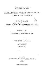 Supplementary Despatches and Memoranda of Field Marshal Arthur, Duke of Wellington, K. G.: Appendix, 1794-1812