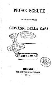 Prose scelte di monsignor Giovanni Della Casa