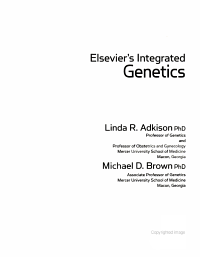 Elsevier s Integrated Genetics PDF