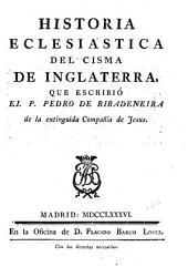 Historia eclesiástica del cisma de Inglaterra