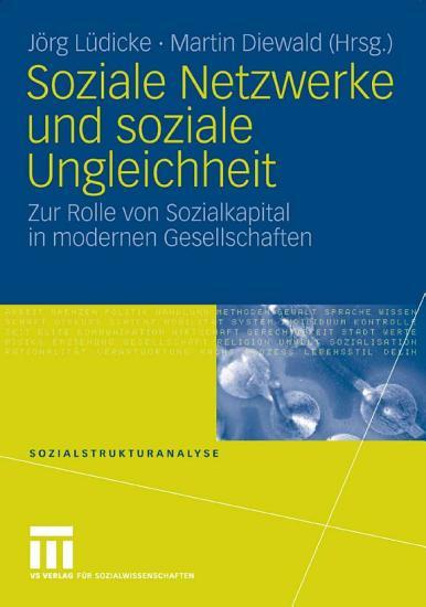 Soziale Netzwerke und soziale Ungleichheit PDF