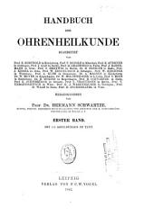 Handbuch der Ohrenheilkunde: Band 1