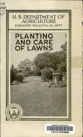 Planting and care of lawns