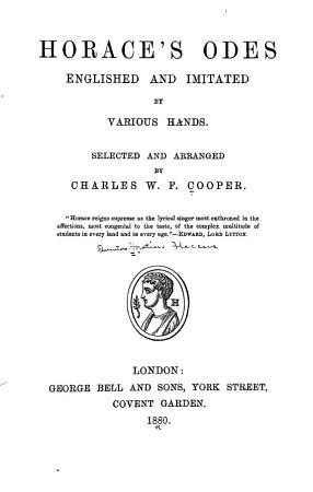 Horace s Odes PDF