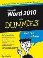 Word 2010 f  r Dummies PDF