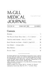 Mcgill Medical Journal  Book PDF