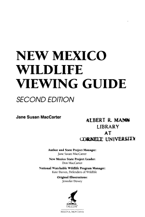 New Mexico Wildlife Viewing Guide