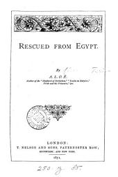 Rescued from Egypt, by A.L.O.E.