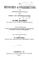 th  Die menschen    v  lkerkunde als wissenschaftliche grundlage der staats  und rechtsphilosophie PDF
