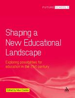 Shaping a New Educational Landscape PDF