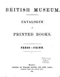 Catalogue Of Printed Books Book PDF