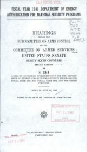 Military Construction Authorization  Fiscal Year 1981 PDF