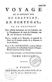 Voyage du ci-devant duc Du Chatelet en Portugal...