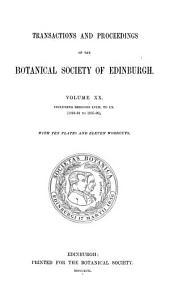 Transactions and Proceedings of the Botanical Society of Edinburgh: Volume 20