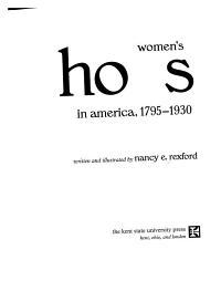 Women s Shoes in America  1795 1930