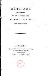 Méthode raisonnée pour apprrendre la langue latine, par Dumarsais