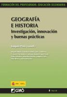 Geograf  a e historia  Investigaci  n  innovaci  n y buenas pr  cticas PDF