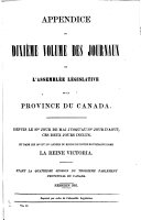Download Appendix to     Journals of the Legislative Assembly of the Province of Canada     Book