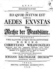 Diss. acad. de eo quod iustum est circa aedes exustas: Vom Rechte d. Brandstätte