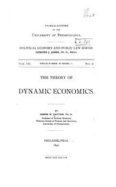The Theory of Dynamic Economics: Issue 11