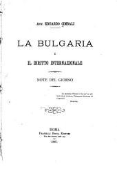 La Bulgaria e il diritto internazionale: Note del giorno