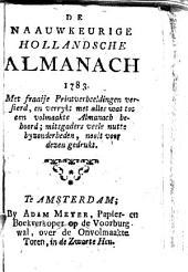 De naauwkeurige Hollandsche almanach 1777