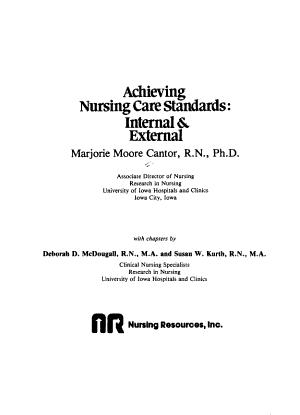 Achieving Nursing Care Standards  Internal   External PDF